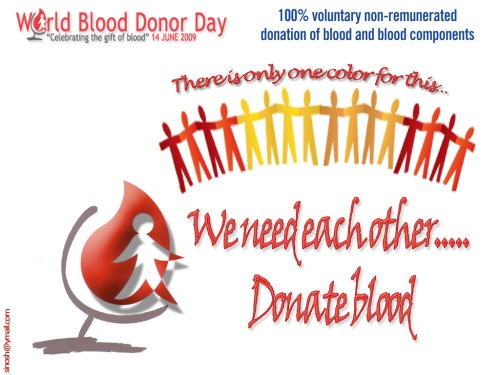World blood donors day June 14 poster